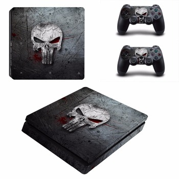 The Punisher PS4 Slim Skin Sticker Decal Cover Vinyl for Playstation 4 DuslShock 4 Console & Controller PS4 Slim Skin Sticker 2