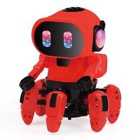 Elektrische Sechs klaue Roboter Spielzeug Bewaffnung Schaukel Tanzen Fisch Kleine Musik Kinder Schütteln Spielzeug Mit Lichter Spielzeug-in RC-Roboter aus Spielzeug und Hobbys bei