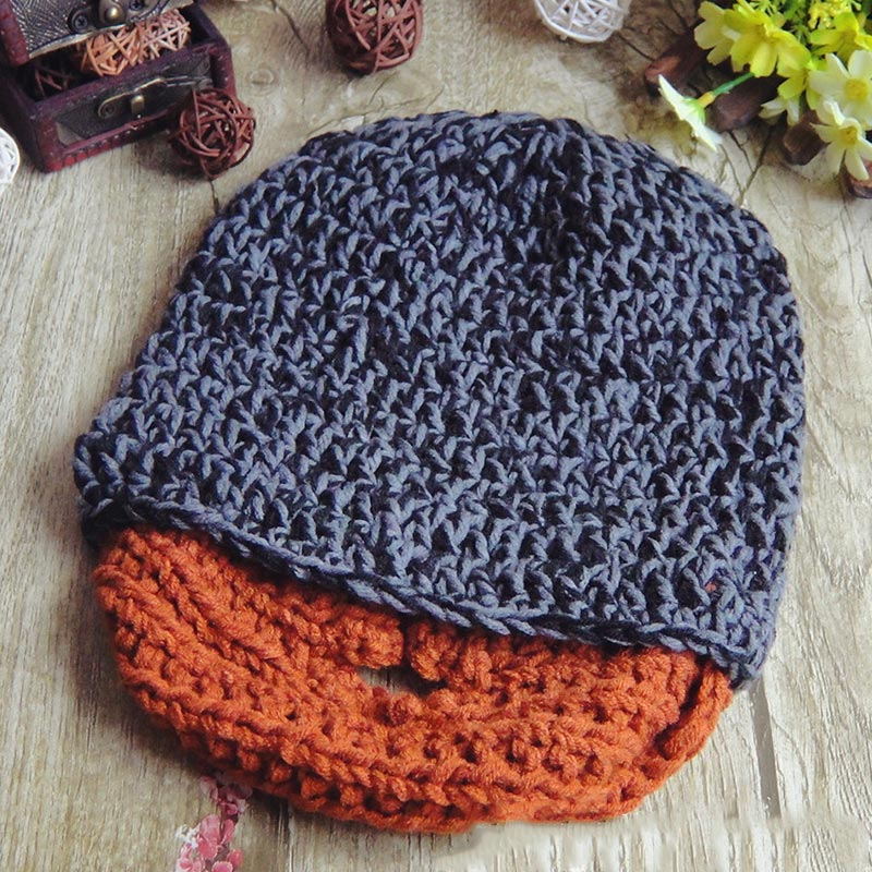 Fashion Punk Knit Crochet Beard Hat Beanie Mustache Warm Winter Face Mask Ski Snow Caps SER88