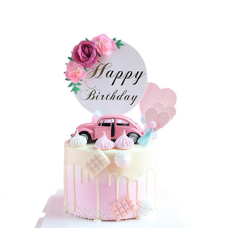 Image 2 - Flower Happy Birthday Cake Topper Mother's Day Cake Decorations Kids Birthday Cake Supplies Baby Shower Cupcake Topper-in Cake Decorating Supplies from Home & Garden