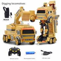 Fernbedienung Auto Spielzeug Roboter bagger auto Rc Autos Große Gesture Sensing Elektrische Transformation Roboter Sport Bagger Drift Modell