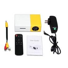 ViviBright YG300 мини проектор, светодиодный мини проектор с ЖК экраном, 400 600LM 1080P видео 320x240 пикселей, лучший домашний проектор