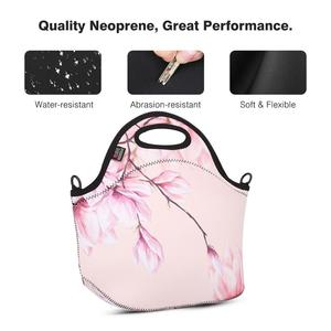 Image 5 - Insulated Lunch Bag, MOKO Neoprene Lunch Tote Reusable Picnic Bag Soft Thermal Cooler Tote Multi purpose Grocery Container
