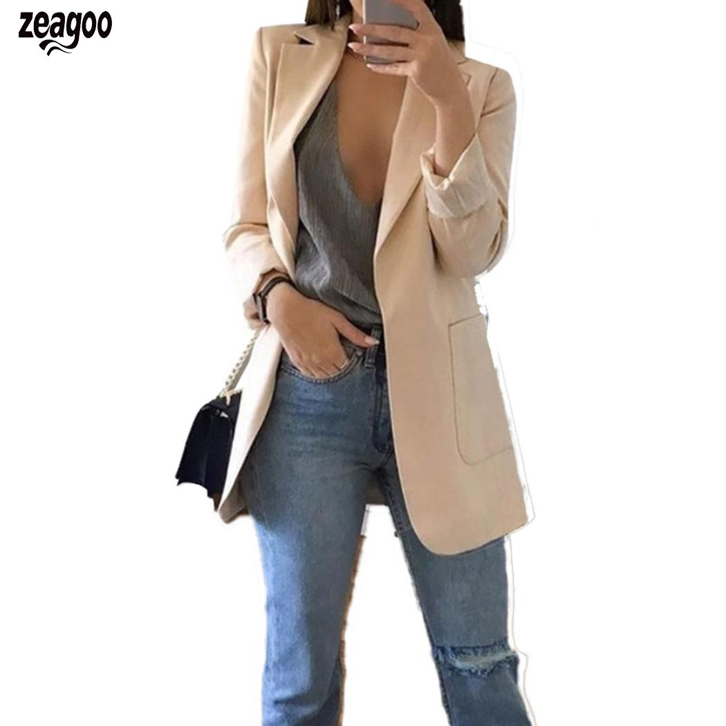 Women Autumn Cardigan Coat Turn-down Collar Autumn, Winter Casual Casual Solid Jacket Outwear With Pockets