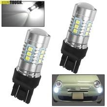 2 ampoules Led 580 DRL Canbus sans erreur pour Fiat 500, 2007, 2008, 2009, 2010, 2011, 2012, blanc, 6000K