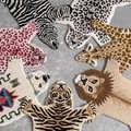 Handgemaakte 80% wol cartoon dier tijger luipaard hand-made 20% katoen thuis tapijt woonkamer sofa slaapkamer kinderen bedside mat