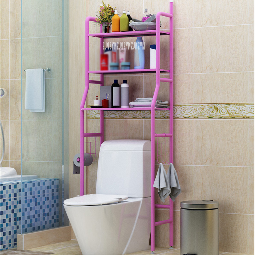 landing Type Bathroom Organizer Made With Metal Finish For Shampoo And Towel Accessory 2