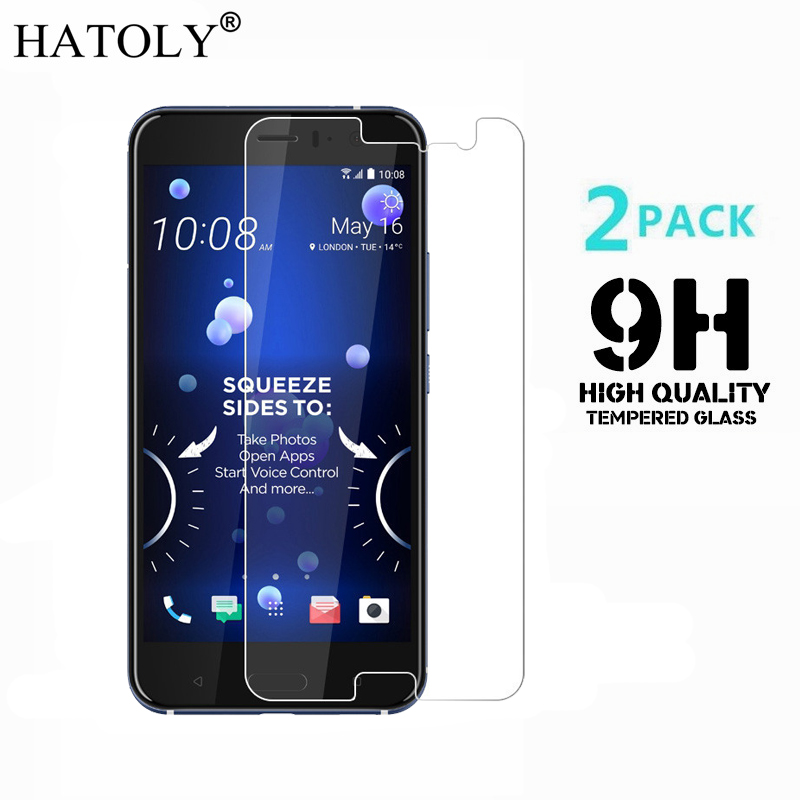 2PCS Tempered Glass For HTC U11 U 11 Ultra-thin Screen Protector For HTC U11 Ocean HD Toughened Film For HTC U11 Glass HATOLY