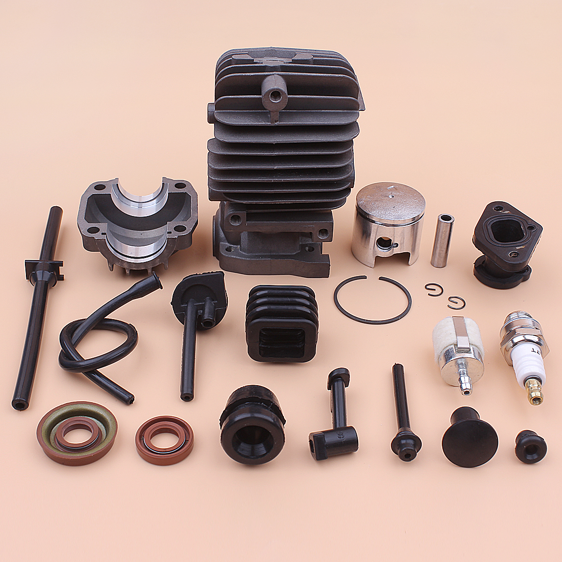 34mm Cylinder Piston Pin Ring Circlips Kit For Chinese 2500 25CC Chainsaw Parts