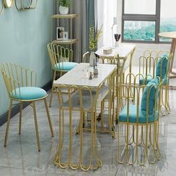 Nordic Golden krzesła do paznokci prosta sypialnia Sofa krzesło kawiarniane Art stół do jadalni krzesła Salon meble do salonu kosmetycznego stół do manicure na