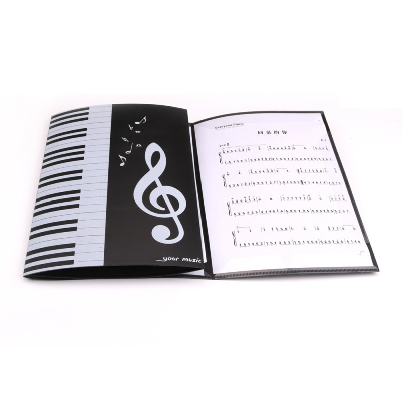 Expanded Sheet Piano Book 6 Page Document Storage Holder Music Score Folder Protective Organizer NEW!