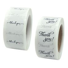 500шт спасибо печать наклейки этикетки для скрапбукинга выпечки подарочные пакеты свадебные украшения канцелярские наклейки