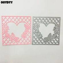 Lace Heart Metal Cutting Dies Stencil Scrapbooking DIY Album Stamp Paper Cards Embossing Decor Craft Art New Dies for 2020 leaf lantern metal cutting dies stencil scrapbooking diy album stamp paper cards embossing decor craft art new dies for 2020