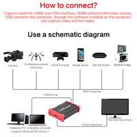 Plug And Play USB 3.0 Loop Out Computer Components Portable Game Recording HDMI Video Card Live Streaming HD 1080P