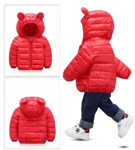 Image 2 - אביב סתיו אור ילדי חורף מעילי ילדים כותנה למטה מעיל תינוק מעיל דובון בנות הלבשה עליונה נים ילד מעיל