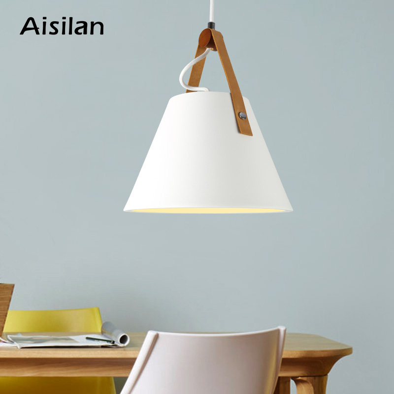Aisilan Nordic simple pendant light E27 LED creative hanging lamp design by yourself for bedroom living room restaurant bar title=