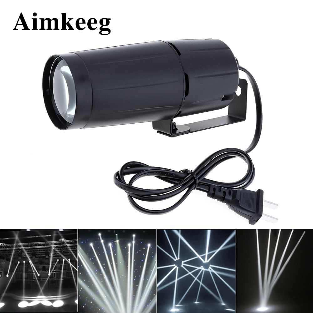 Aimkeeg White LED Spotlight Beam Super Bright Lamp Mirror Balls Stage Effect Lighting  DJ Stage Party Show Light