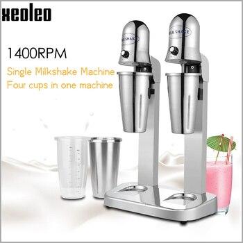 XEOLEO молочный шейкер с двойными чашками, машина для встряхивания молока из нержавеющей стали, 220В/110В, молочный миксер, молочный пузырь, чайна...
