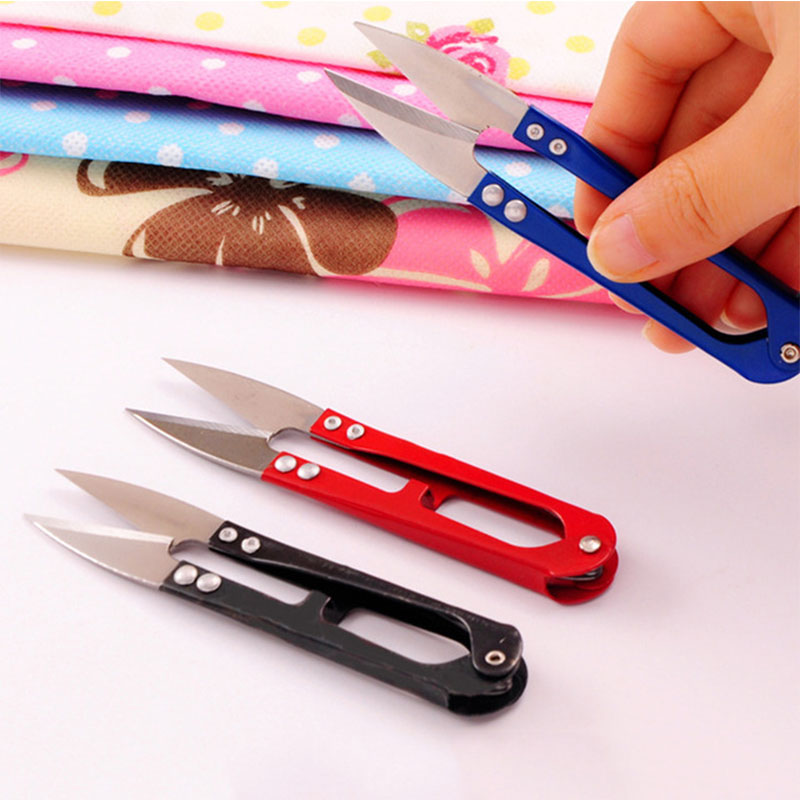Colored Stationery Scissors Nippers U Shape Clippers Steel Scissors For Kids DIY Handmade Scissors Professional Tailor Scissors