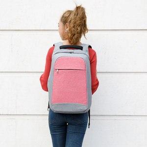 Image 5 - تيجيرنو مكافحة سرقة موضة حقائب الظهر النسائية اليومية كلية حقيبة مدرسية للفتيات المراهقات 15.6 بوصة محمول على ظهره Mochila