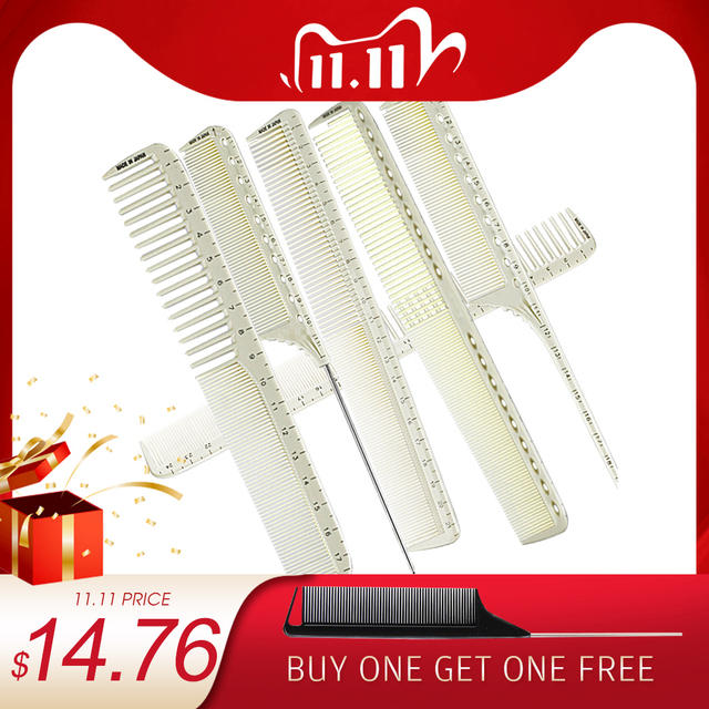 6 Pcs/Set Professional Hairdressing Comb Barber Cutting Hair Comb Anti Static Salon Hair Styling Tools Hairdresser Measure Comb