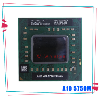AMD laptop A10 5700M Series A10 5750M A10-5750m AM5750DEC44HL Socket FS1 CPU 4M Cache/2.5GHz/Quad-Core processor GM45/PM45 1
