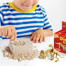 Educacional dinossauro fóssil escavação brinquedos arqueológico escavação brinquedo diy montagem modelo brinquedos para crianças presentes brinquedo dinossauro