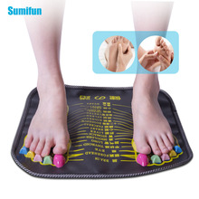 Sumifun foot  massager Reflexology Walk Stone Foot Leg Pain Relieve Relief Walk Massager Mat Health Care Acupressure Mat   C1539 цена