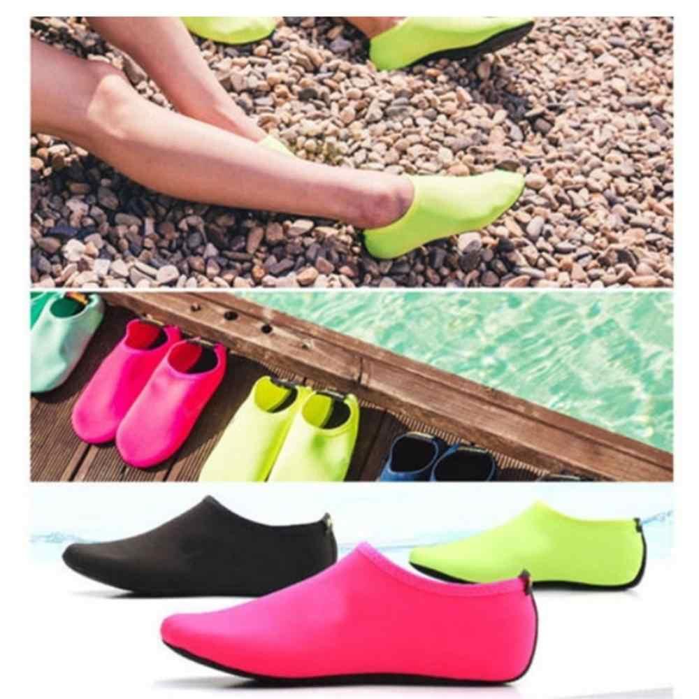Volwassen Koppels Strand Duiken Snorkelen Aqua Sokken Heldere Effen Kleur Zwembad Sneldrogende Barefoot Surfen Slip-On water Schoenen