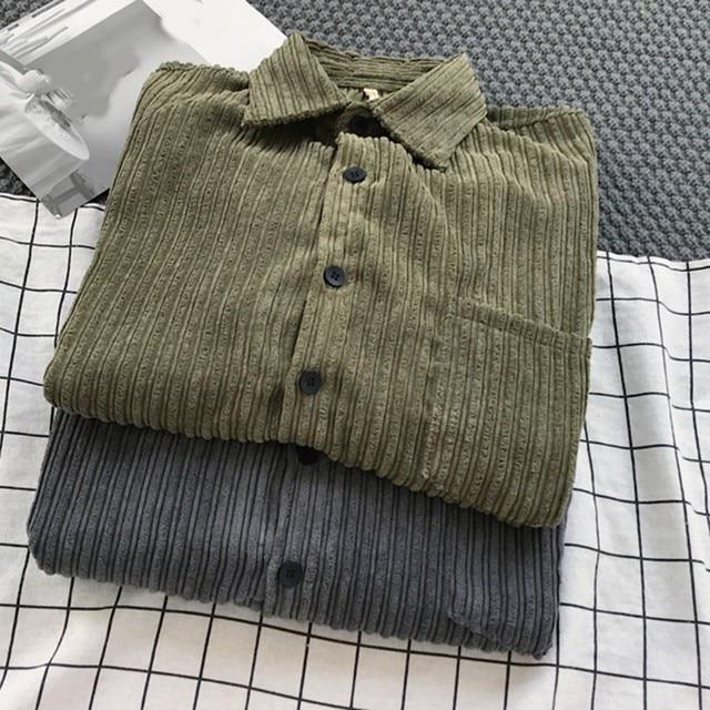 Corduroy Long Sleeve Casual Shirt 2