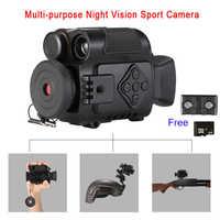 P4-0118 Digital infrarrojo visión nocturna/Mini cámaras de acción deportiva/cámara Monocular zoom 5X para día y noche