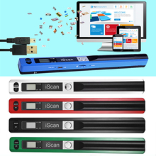 JPEG/PDF Format Pen Type Handheld 900DPI USB 2.0 Mini High Speed Compact LCD Display Portable Document Scanner #5 цены