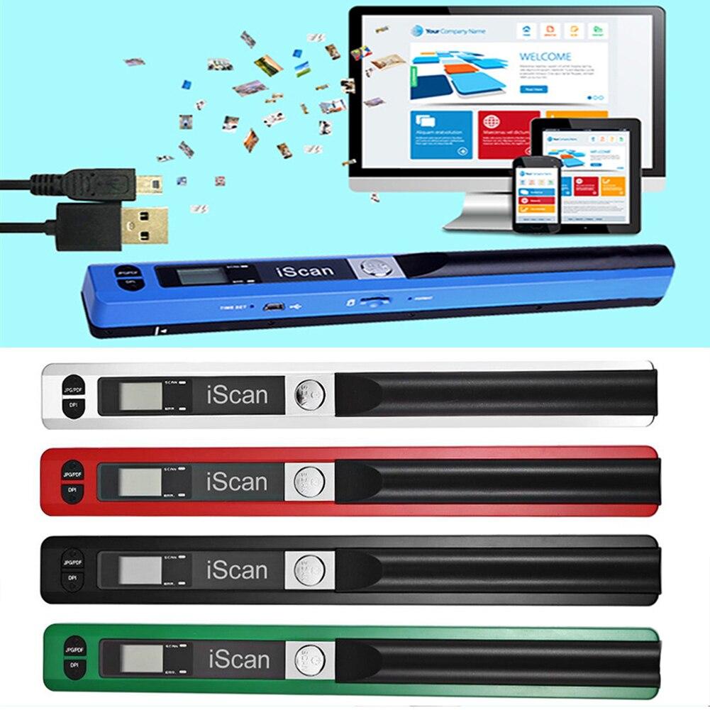 JPEG/PDF Format stylo de poche 900DPI USB 2.0 Mini haute vitesse Compact LCD affichage Portable Scanner de documents #5