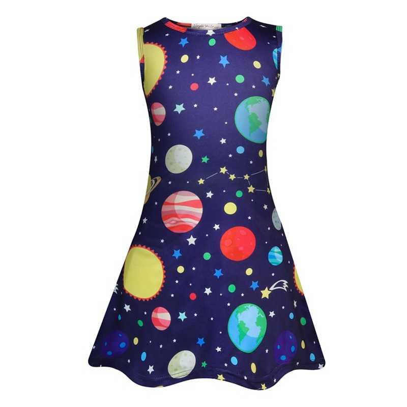 פעוט ילדה שמלות לילדים ללא שרוולים מסיבת יום הולדת ילדים בנות שמלת בנות קיץ פרפר Unicorn שמלת ילדה קיץ