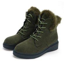 Fashion Black Green Yellow Ankle Snow Boots Women Winter Boot Block Med Heels Shoes Woman Keep Warm Flock Plush atemi ajis 12 05 neon hard boot yellow black