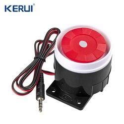 Kerui Мини Проводная сирена для PSTN GSM Беспроводная система охранной сигнализации для дома 120 дБ аксессуары сирены