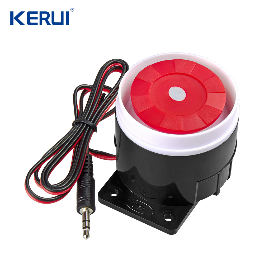 kerui Mini Wired Siren For PSTN GSM Wireless Home Alarm Security System 120 dB Alarm Accessories Siren