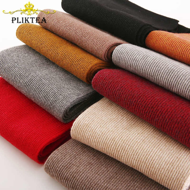 2019 Soft Knitted 55% Cashmere Children's Scarf Winter Solid Color Wool Scarf For Women Black Men's Scarves Boy Girl Warm Scarfs