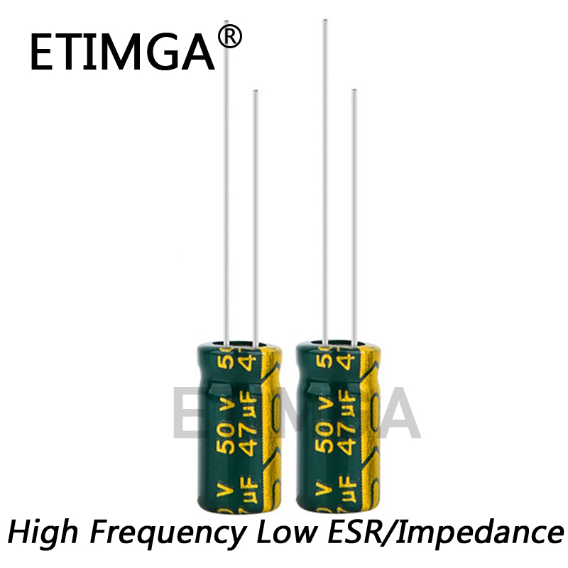 20pcs/lot high frequency low impedance 50v 47UF aluminum electrolytic capacitor size 6*12 47UF 20%