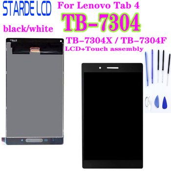 цена на For Lenovo IdeaTab 4 TB-7304X TB-7304F TB-7304 TB 7304X LCD Display 7304F Touch Screen Digitizer Assembly Tablet Matrix Parts
