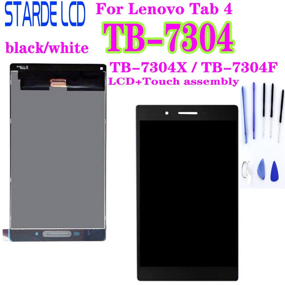 Para Lenovo IdeaTab 4 TB-7304X TB-7304F TB-7304 TB 7304F 7304X Display LCD Montagem Digitador Da Tela de Toque Tablet Matriz partes