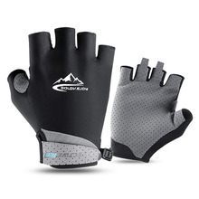 Half-Finger Gloves Bike Bicycle Non-Slip Women Summer Silk Breathable