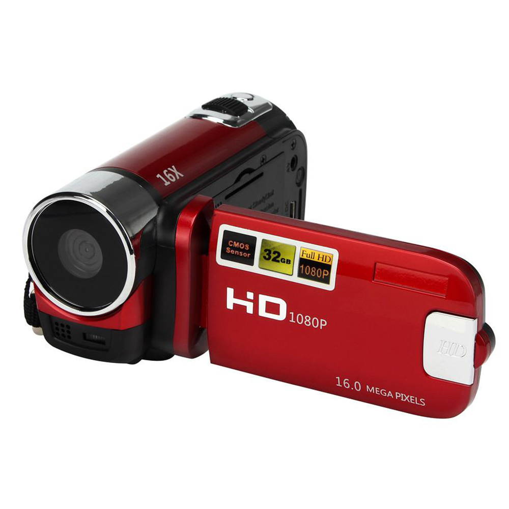 HD 1080P 16X Digital Zoom Handheld Camera Video Camcorder 2.4 Inch LCD Screen Home Use Cameras Portable DV Recorder Family Gift