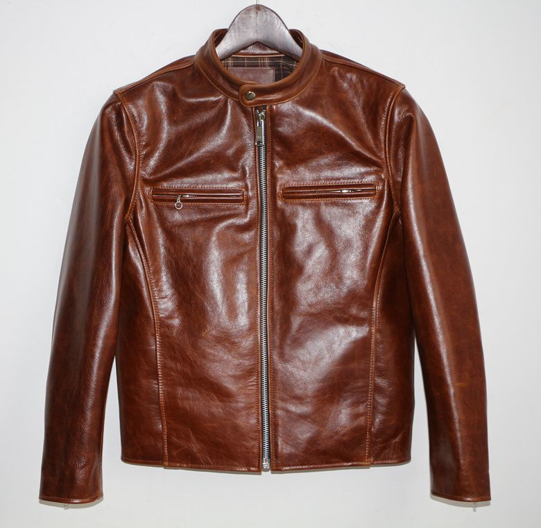 Free Shipping,Special Oil Cowhide Jacket.super American Style.genuine Leather Jackets.man Biker's Jacket,top Classic Coat.