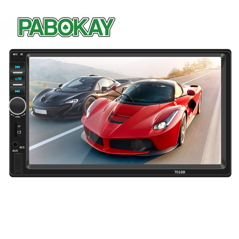 2 Din General Car Models 7'' inch LCD Touch Screen Radio Player Bluetooth Audio Support Rear View Camera image