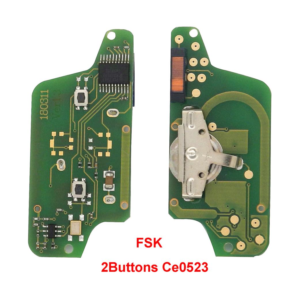 jingyuqin Remote <font><b>Key</b></font> Circuit Board for <font><b>Peugeot</b></font> 207 208 307 <font><b>308</b></font> 408 Partner CE0536 C2 C3 C4 C5 Berlingo Picasso CE0523 536 2/3B image