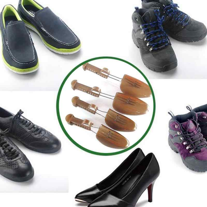 Yeni erkek kadın ahşap ayarlanabilir 2-Way profesyonel ayakkabı sedye ayakkabı ağacı sedye ayakkabı daireler pompaları botları genişletici ağaçları