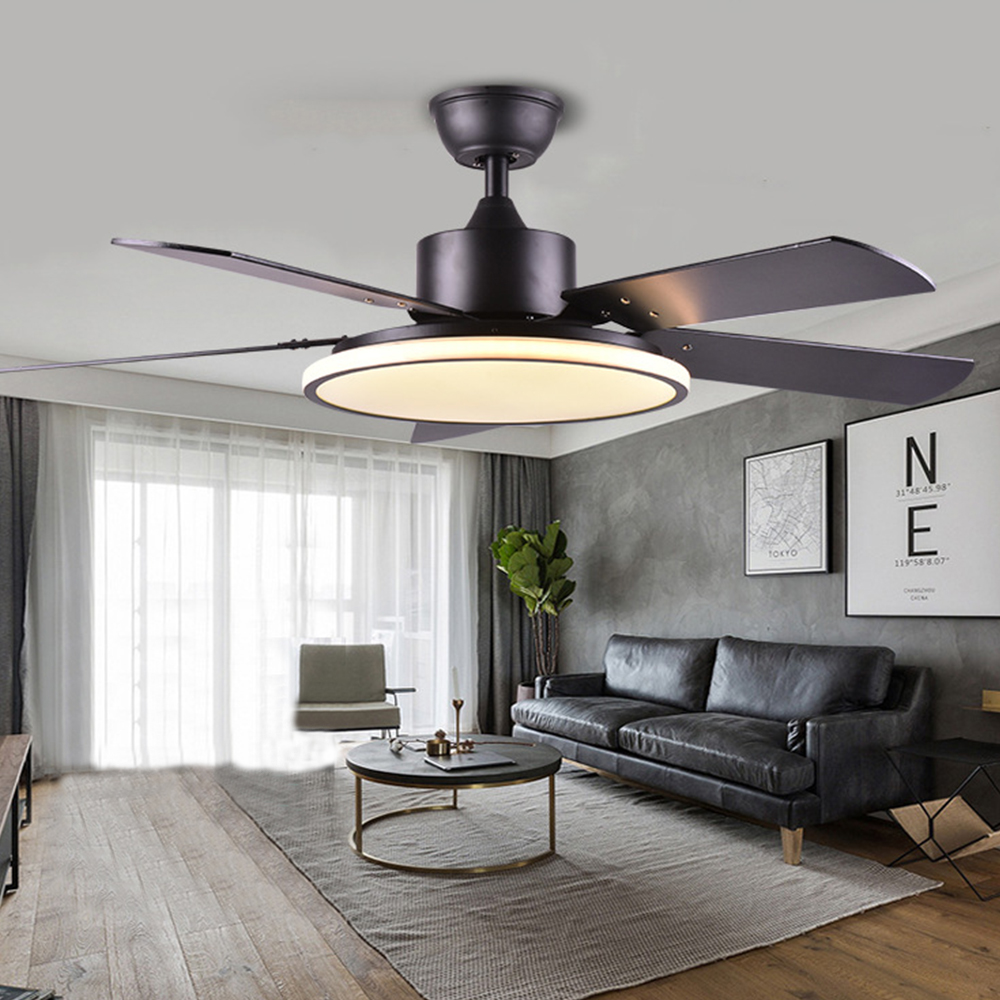 Nordic Modern Ceiling Fans with Lights 220V Bedroom Lamps Remote Control Fan Lamp for Home Bed room Living Room Restaurant