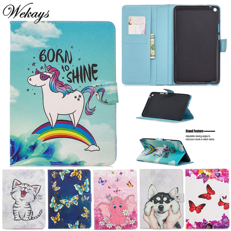 Wekays Coque For Huawei T3 8 Inch Cartoon Unicorn Leather Funda Case For Huawei MediaPad T3 8.0 Inch KOB-L09 KOB-W09 Cover Cases