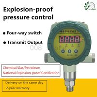 Intelligent Explosion proof Digital Pressure Controller Adjustable Explosion proof Electric Contact Pressure Gauge Switch 4 20mA